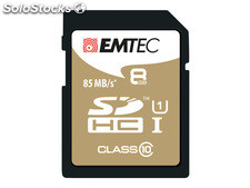 Sdhc 8GB emtec CL10 Gold+ uhs-i 85MB/s Blister