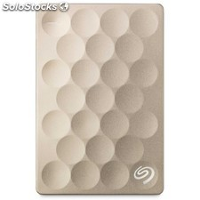 Seagate - Backup Plus Ultra Slim 1TB 1000GB Oro disco duro externo