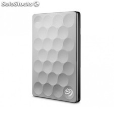 Seagate - Backup Plus Ultra Slim 1TB 1000GB Platino disco duro externo