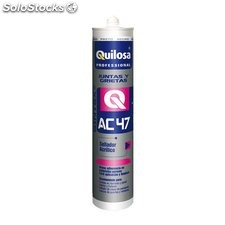 Sellador Acrílico Repintable AC-47 Quilosa Blanco Cartucho 300 ml