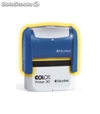 Sello automatico 4lineas azul printer r30 colop 30.aa