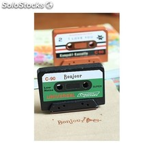 Sello cassette bonjour scrap en display 9646