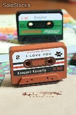 "Sello Cassette ""i love you"" scrap en display"