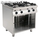 Semi professional 4 burner gas stove-mod. f7/kug4ba-open space-power kw