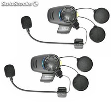 Sena SMH5-FM Dual, pareja intercom moto Bluetooth con radio FM