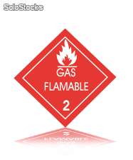 señal flamable Red-2.2.2