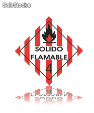 señal flamable Red-4.4.4.1