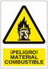 Señal peligro material combustible