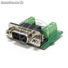 Serial Adapter DB9 female to terminal block (TI96)
