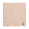 Servilletas ecolabel 1 capa 23 g/M2 33x33 cm natural tissue reciclado (3000