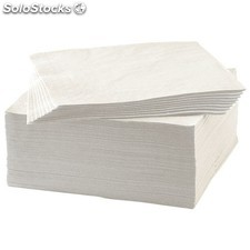 servilletas papel 1 capa 30x30 color blanco