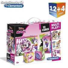 Set 12 cubo rompecabezas Minnie