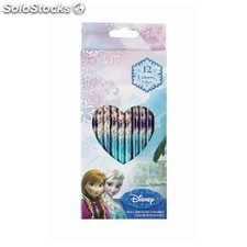 "Set 12 lapices de colores frozen ""follow"