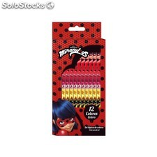 "Set 12 lapices de colores ladybug ""marin"