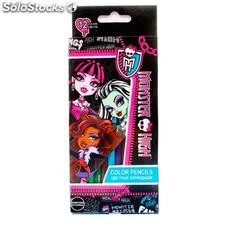 Set 12 Lapices de Colores Monster High