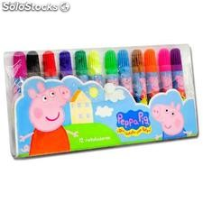 Set 12 Rotuladores Peppa Pig