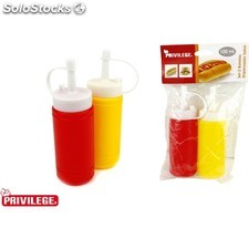 Set 2 botellas 100 ml dispensador salsa privilege - privilege - 8433774664109 -