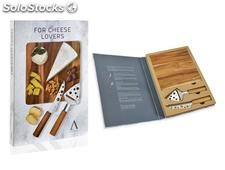 Set 2 cuchillos queso + tabla acacia Andrea House