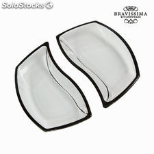 Set 2 cuencos cristal negros - Colección Crystal Colours Kitchen by Bravissima K