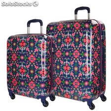 Set 2 maletas trolley ABS Catalina Estrada Caleidoscopio 4r 55/68cm