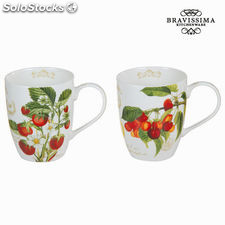 Set 2 tazas fruits garden - Colección Kitchen's Deco by Bravissima Kitchen