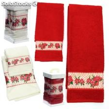 Set 2 toalla Poinsettia 2 colores