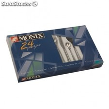 Set 24 piezas cubiertos monix reims - acero inoxidable 18/c 1.8MM - 6 cucharas -