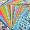 Set 25 papeles scrapbooking colors