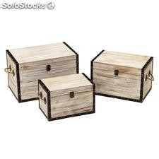 Set 3 baúl natural MDF 54x35x35cm