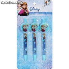 Set 3 bolígrafos auto decoración frozen - disney - frozen - 8433774622581 -