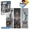 Set 3 puzzle 500 pcs tríptico new york