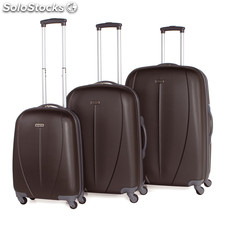 Set 3 trolleys abs de la marca tempo antracita