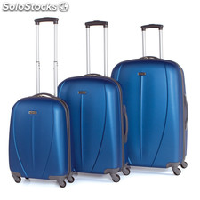 Set 3 trolleys abs de la marca tempo azul