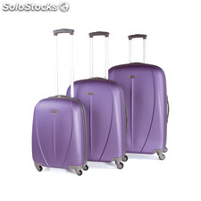 Set 3 trolleys abs de la marca tempo morado