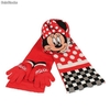 Set 3pcs Minnie Mouse (Gorro, Guantes y Bufanda)