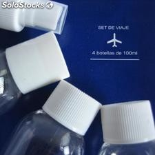 Set 4 botellas de 100ml para viaje