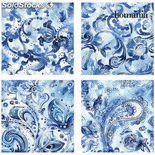 Set 4 cuadros azules by Homania