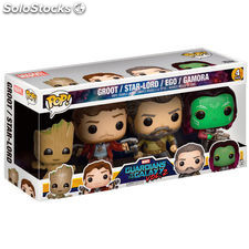 Set 4 figuras POP Marvel Guardians of the Galaxy 2 Exclusive
