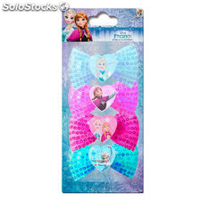 Set 4 gomas con lazo Frozen Disney
