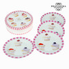 Set 4 platos cupcakes - Colección Kitchen's Deco by Bravissima Kitchen