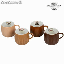 Set 4 tazas coffee - Colección Kitchen's Deco by Bravissima Kitchen