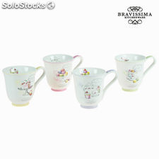 Set 4 tazas patisserie - Colección Kitchen's Deco by Bravissima Kitchen
