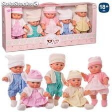 Set 5 bebé the little baby t punto 20cm