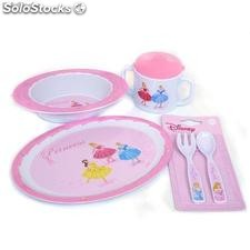 Set 5pcs Melamina Princesas Disney