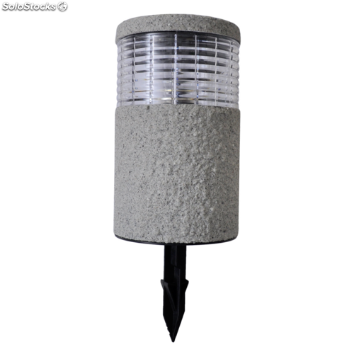 Set 6 luces led solares para el jard n con acabado en piedra for Luces led jardin