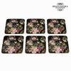 Set 6 posavasos bloom black - Colección Kitchen's Deco by Bravissima Kitchen