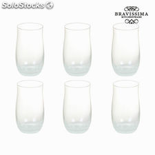 Set 6 vasos cristal blanco - Colección Crystal Colours Kitchen