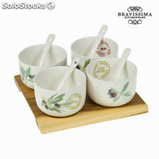Set aperitivo porcelana loungu - Colección Kitchen's Deco by Bravissima Kitchen