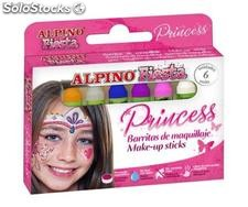 Set aus 6 Prinzessin Make-up Stiften 5 Gramme