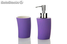Set Baño Rubber Morado